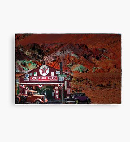 Western Auto In Death Valley Canvas Print