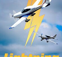Lightning Plane Poster by Ginter