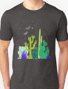 Green Cacti Watercolour & Bats T-Shirt