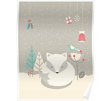 Christmas baby fox 05 Poster