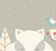 Christmas baby fox 05 Sticker