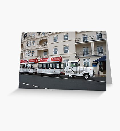 The Land Train in Eastbourne Greeting Card