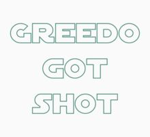 Greedo Got Shot Kids Tee