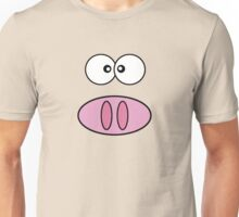 Little Piggy (Pig Face, Pig Nose) - Pink Black Unisex T-Shirt