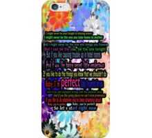 one direction perfect iPhone Case/Skin