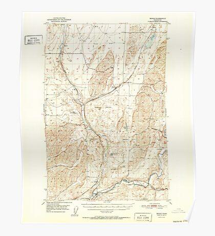 USGS Topo Map Washington State WA Benge 240015 1952 62500 Poster