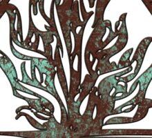 ANCIENT FIRE SYMBOL - aqua grunge Sticker