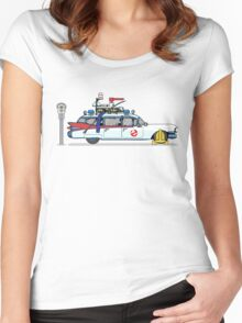 Ghostbusters Cadillac Wheel Clamp  Women's Fitted Scoop T-Shirt