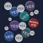 Yes and Mebbes Aye Scottish Independence T-Shirt by simpsonvisuals