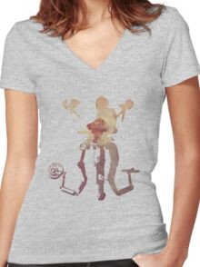 Mister Handy - Please Stand By Women's Fitted V-Neck T-Shirt