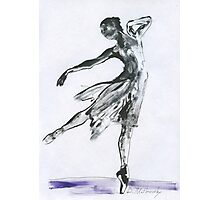 Butterfly Dance, Ballet 14, children, Woman dancing, ink & oil on paper  Photographic Print