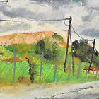Landfill landscape, plein air by aceshirt