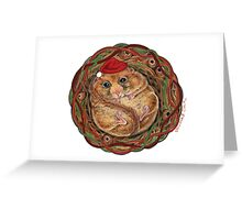 Holiday Dormouse ~ Season's Greetings! Greeting Card