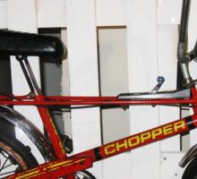 Vintage chopper bike   Sticker