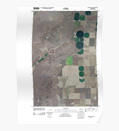 USGS Topo Map Washington State WA Hartline SW 20110425 TM Poster