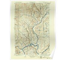 USGS Topo Map Washington State WA Okanogan 242912 1905 125000 Poster