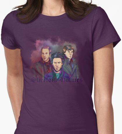 3 Sherlock Womens Fitted T-Shirt