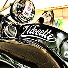 Velocette M Series vintage motorcycle by htrdesigns