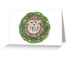 Holiday Hedgehog ~ Season's Greetings! Greeting Card