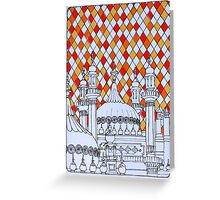 Geo Pavilion Rooftops Greeting Card
