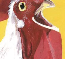 Rooster art, colorful rooster print Sticker