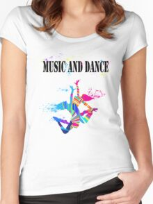 MUSIC AND DANCE Women's Fitted Scoop T-Shirt