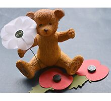 Remembrance  Bear Photographic Print
