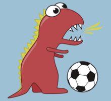 Funny Cartoon Dinosaur Soccer Shirt by Boriana Giormova