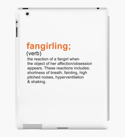 Fangirling iPad Case/Skin