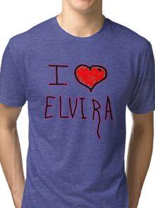 i love Elvira on halloween  Tri-blend T-Shirt