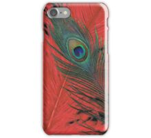 Red Hot Peacock iPhone case iPhone Case/Skin