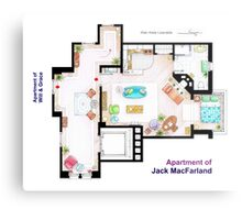 "Jack MacFarland's apartment from ""Will & Grace"" Metal Print"