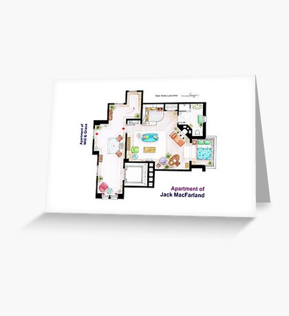 """Jack MacFarland's apartment from """"Will & Grace"""" Greeting Card"""