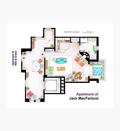 """Jack MacFarland's apartment from """"Will & Grace"""" Photographic Print"""
