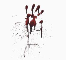Zombie Attack Bloodprint - Halloween T-Shirt