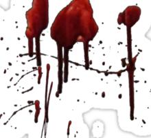 Zombie Attack Bloodprint - Halloween Sticker