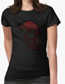 Retro Hell Skull Womens Fitted T-Shirt