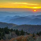 Blue Ridge Parkway Sunset - For the Love of Autumn by Dave Allen