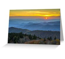 Blue Ridge Parkway Sunset - For the Love of Autumn Greeting Card