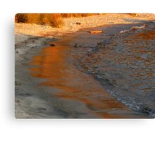 Azure and Amber Canvas Print