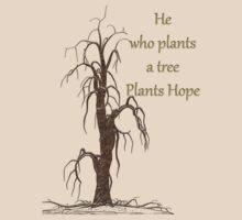 Tee Shirt-Plant A Tree by Pamela Phelps