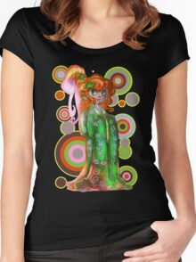 Ginger Kimono Girl Women's Fitted Scoop T-Shirt