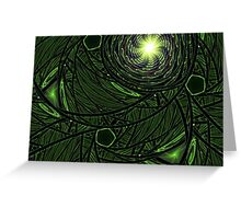 Green Frost Greeting Card