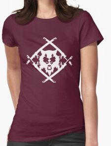 Xavier Wulf Black Womens Fitted T-Shirt