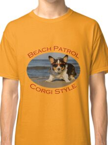 Beach Patrol Corgi Style Classic T-Shirt