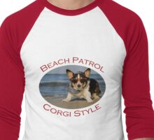 Beach Patrol Corgi Style Men's Baseball ¾ T-Shirt