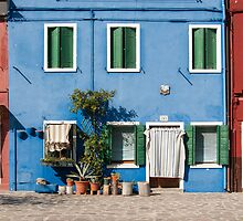 Blue House, Burano, Venice by Petr Svarc