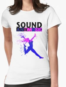 SOUND AND MUSIC Womens Fitted T-Shirt