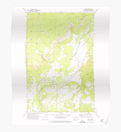 USGS Topo Map Washington State WA Ford 241157 1973 24000 Poster