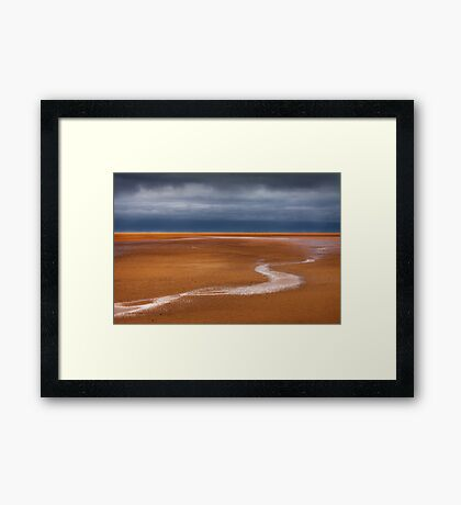 The Red Beach Framed Print